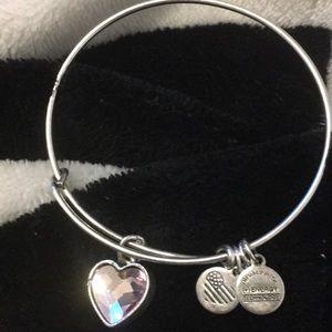 Alex & Ani Pink Heart Bracelet